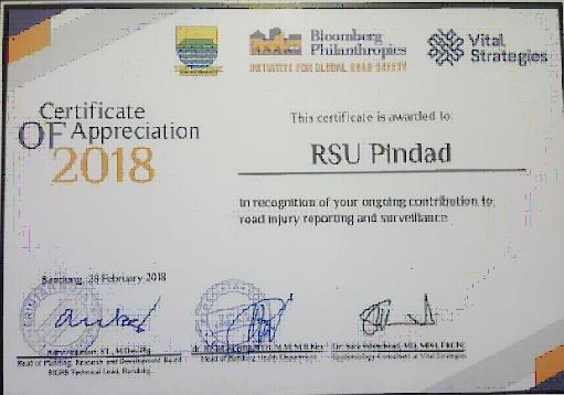 Penghargaan Untuk RSU Pindad dari Bloomberg Philanthropies