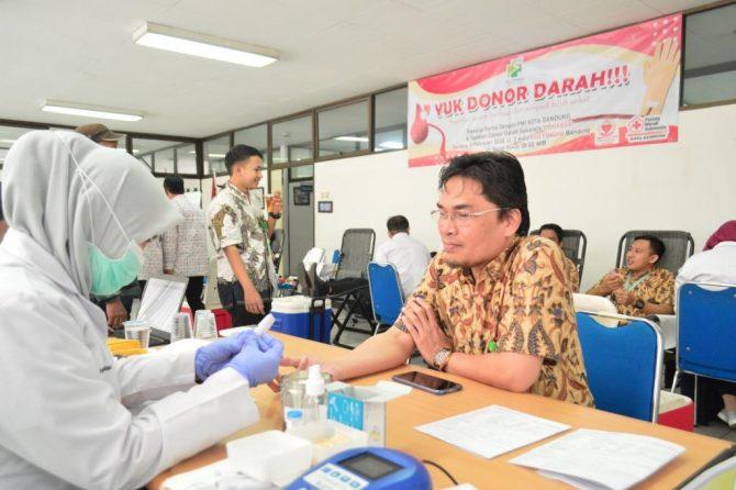 """Terselenggaranya program """"YUK DONOR DARAH"""" di RSU Pindad Bandung"""
